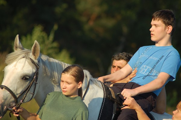 Иппотерапия в Иванове и Ивановской области - Дневник иппотерапевта - На неделю мы прерывали занятия с Мишей...
