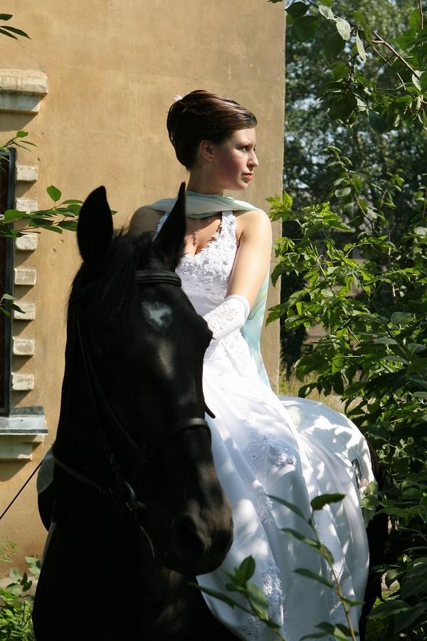 Свадьба на лошадях - Невеста на коне