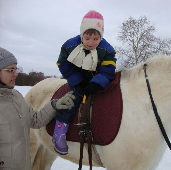 Иппотерапия и лечебная верховая езда (ЛВЕ) - Занятие с Лизой. Упражнения