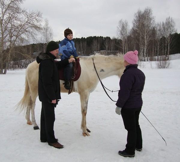 Иппотерапия и лечебная верховая езда (ЛВЕ) - Занятие с Сережей