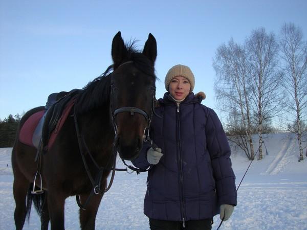 Лошади - Волна и Людмила (март 2011)