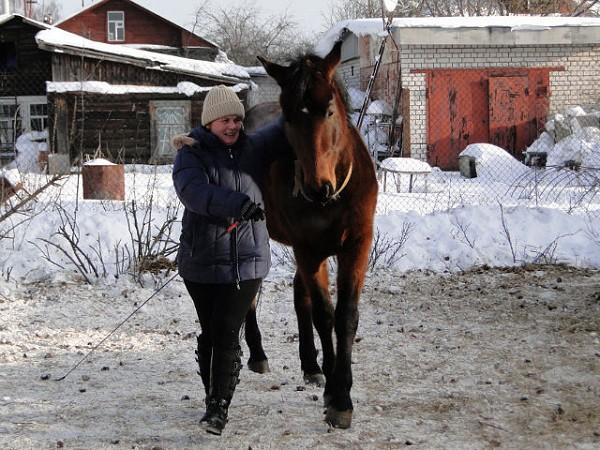 Верховая езда / Конный спорт - я и Водопад