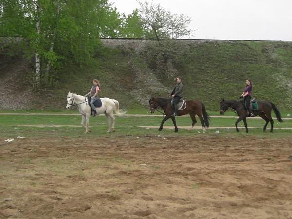 Верховая езда / Конный спорт - Тренировка. (май 2012) Езда сменой