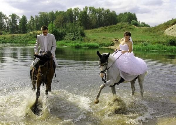 Свадьба на лошадях - Саша и Валя