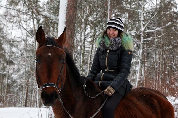 Лошади - Вика и Паша. Прогулка удалась!