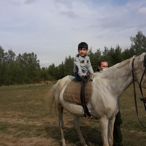 Иппотерапия и лечебная верховая езда (ЛВЕ) - Максим тоже готовится