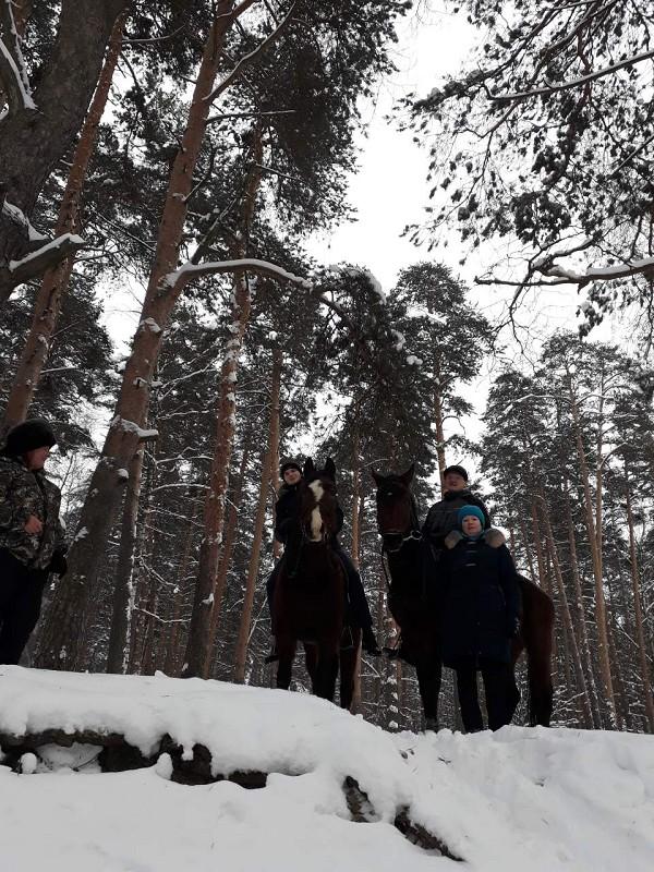Прогулки на лошадях - Новогодние прогулки 2019