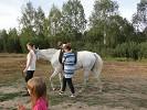 Иппотерапия и лечебная верховая езда (ЛВЕ) - Иппотерапия. Наклоны на шагу