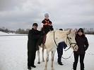 Иппотерапия и лечебная верховая езда (ЛВЕ) - Иппотерапия. Миша на Нике. (март 2011)