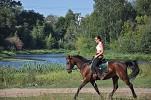 Верховая езда / Конный спорт - Яна и Водопад