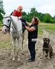 Иппотерапия и лечебная верховая езда (ЛВЕ) - Ипотерапия, Никита. Упражнение с прищепками