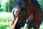 Верховая езда / Конный спорт - Крупным планом. Алиса и Водопад