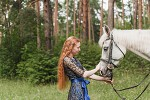Фотосессия с лошадьми - Марина и Ника