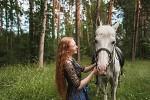 Фотосессия с лошадьми - Марина и Ника. Разговор