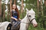 Фотосессия с лошадьми - Марина на Нике